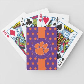 Clemson University Tiger Paw Bicycle Playing Cards