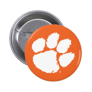 Clemson University Tiger Paw Button