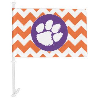 Clemson University Tiger Paw Car Flag