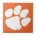Clemson University Tiger Paw Ceramic Tile