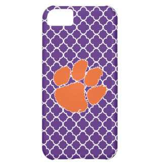 Clemson University Tiger Paw Cover For iPhone 5C