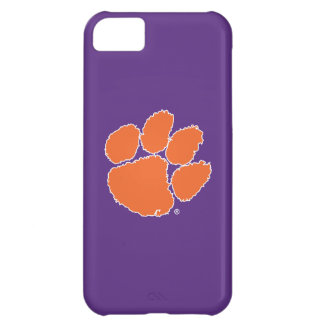 Clemson University Tiger Paw Distressed Cover For iPhone 5C