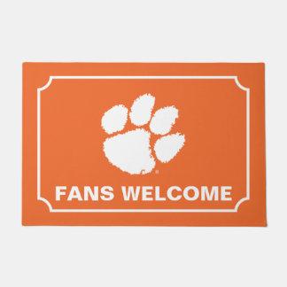 Clemson University Tiger Paw Doormat