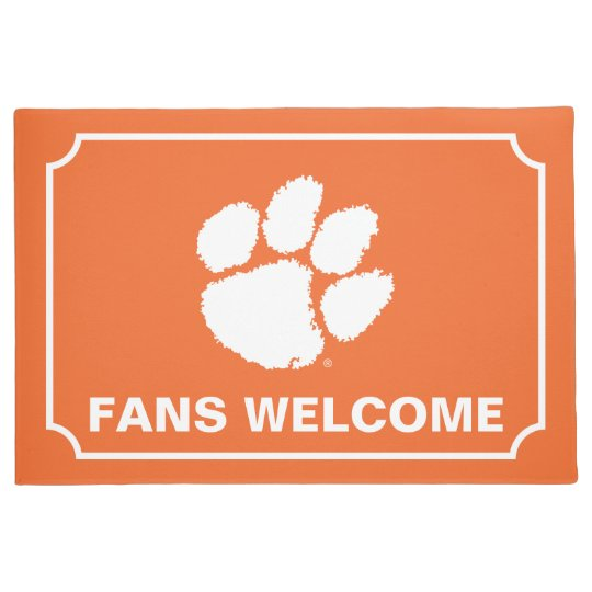 Clemson University Tiger Paw Doormat Zazzle Com