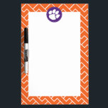 "Clemson University Tiger Paw Dry-Erase Board<br><div class=""desc"">Check out these new Clemson University designs and products! At Zazzle, you can get all of the best Clemson gear to show off your Tiger Pride. All of these products are customizable with your name, class year, or club. They make perfect gifts for the Clemson student, alumni, family, friend, or...</div>"
