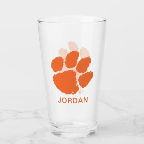 Clemson University Tiger Paw Glass
