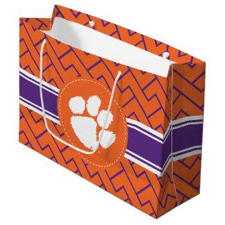 Clemson University Tiger Paw Large Gift Bag