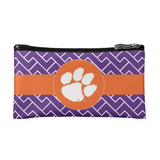 Clemson University Tiger Paw Makeup Bag