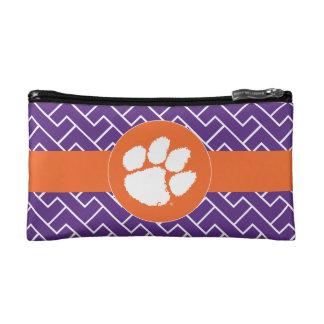 Clemson University Tiger Paw Makeup Bag