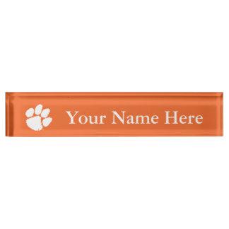 Clemson University Tiger Paw Nameplate