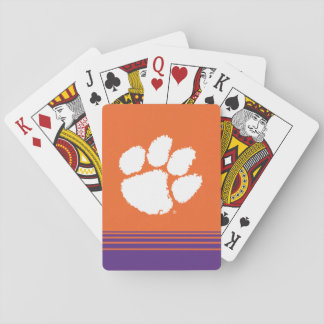 Clemson University Tiger Paw Playing Cards