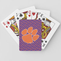 Clemson University Tiger Paw Playing Cards