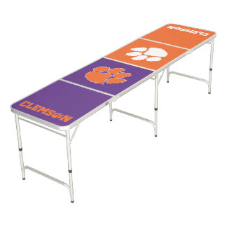 Clemson University Tiger Paw Pong Table