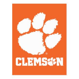 Clemson University Tiger Paw Postcard