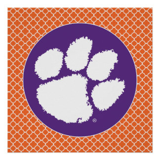 Clemson University Tiger Paw Poster