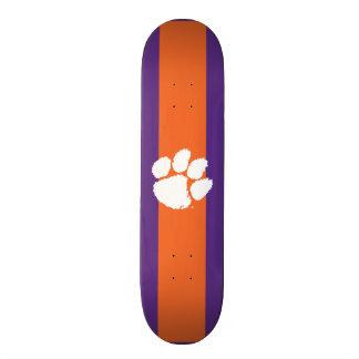 Clemson University Tiger Paw Skateboard