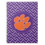 Clemson University Tiger Paw Spiral Notebook