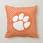 "Clemson University Tiger Paw Throw Pillow<br><div class=""desc"">Check out these new Clemson University designs and products! At Zazzle, you can get all of the best Clemson gear to show off your Tiger Pride. All of these products are customizable with your name, class year, or club. They make perfect gifts for the Clemson student, alumni, family, friend, or...</div>"