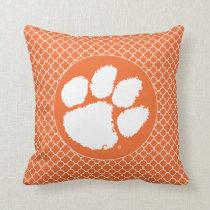 Clemson University Tiger Paw Throw Pillow