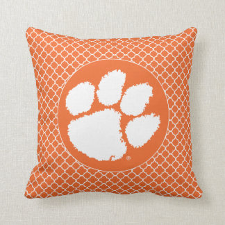 Clemson University Tiger Paw Throw Pillow