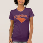 Clemson With South Carolina Distressed Shirt