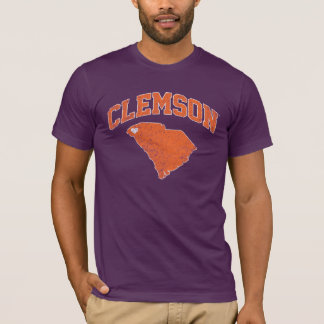 Clemson With South Carolina Distressed T-Shirt