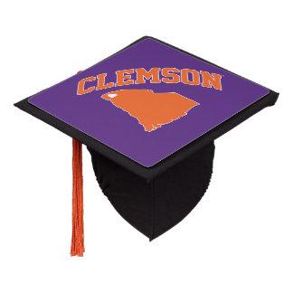 Clemson With South Carolina Graduation Cap Topper