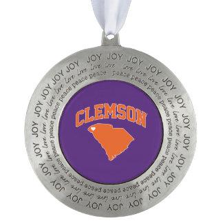 Clemson With South Carolina Ornament