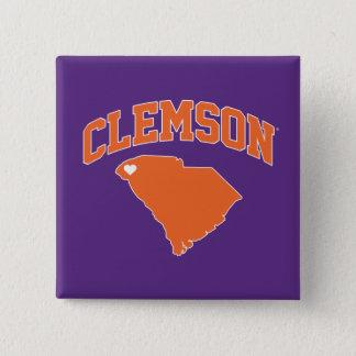 Clemson With South Carolina Pinback Button