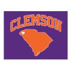 Clemson With South Carolina Postcard