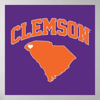 Clemson With South Carolina Poster