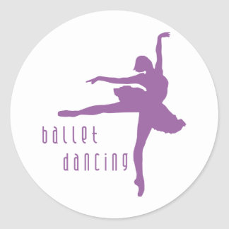 clench dancing classic round sticker