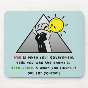Clench fist solidarity against government tyranny mouse pad