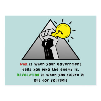 Clench fist solidarity against government tyranny post cards