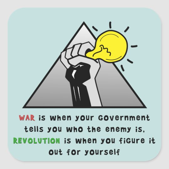 Clench fist solidarity against government tyranny square sticker
