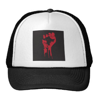 clenched fist trucker hat