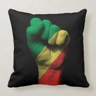 Clenched Fist with Democratic Republic of Congo Pillows