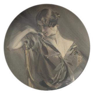 Cleo de Merode Plate
