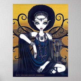 Cleo Egyptian Cobra Fearie Goddess Poster