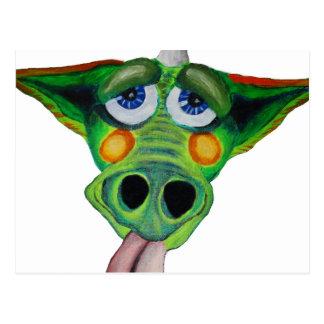Cleo el perrito del dragón (peso) postales
