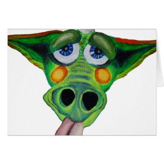Cleo el perrito del dragón (peso) tarjeta de felicitación