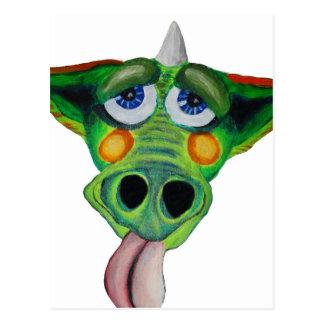 Cleo el perrito del dragón (peso) tarjetas postales