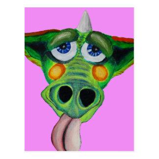 Cleo el perrito del dragón (servicio) tarjetas postales