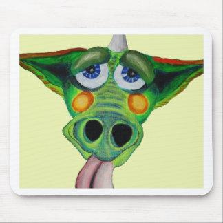 Cleo el perrito del dragón (yllw) tapete de raton