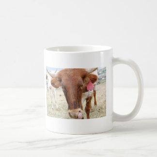 Cleo la vaca taza de café