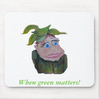 Cleo piensa verde tapete de ratón