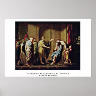 Cleombrotus envió en exilio de Leonidas Ii Posters
