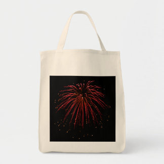 Cleome Fireworks Photo Art Grocery Bag