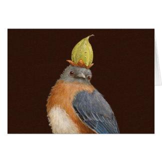 Cleome the bluebird card