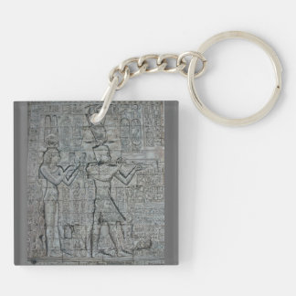 Cleopatra and Caesarion Double-Sided Square Acrylic Keychain